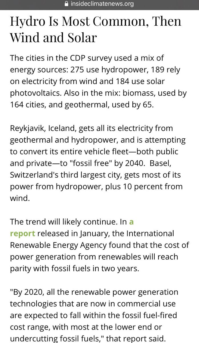 #carbonzeroby2050 means #adapting #newtechnology that does not drive temperatures up. Many cities have already ditched old technology and now harvest energy generated by new technology that does not contribute to the warming trend. https://insideclimatenews.org/news/27022018/renewable-energy-cities-clean-power-technology-cdp-report-global-warming-solutions…#climateadaptationpic.twitter.com/RZhArt9shD