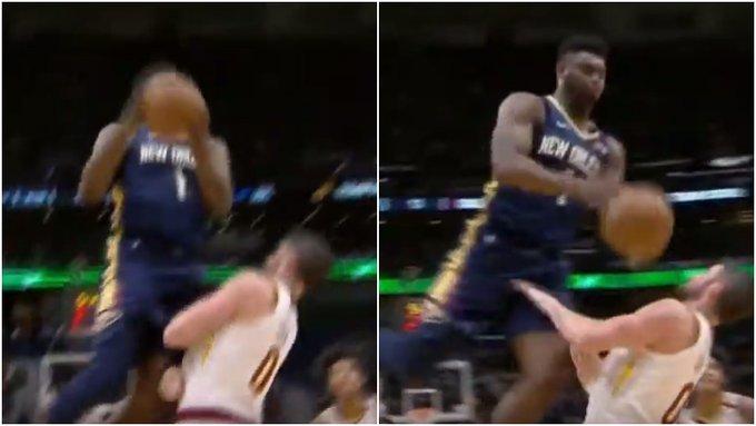 【影片】太狠了!129公斤的胖虎要隔扣愛神,高空重摔倒地,慢鏡頭回放這球在玩命!