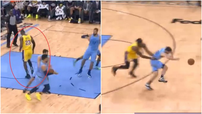 【影片】詹姆斯踩到對手險受傷,10秒後繫上鞋帶繼續幹,Howard第一時間的舉動值得稱讚!