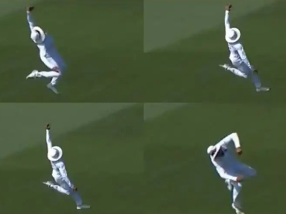 The 'SIR JADEJA' catch today... 'Jadu Man' - Stunning mid air effort ! #indiavsnewzealand @imjadeja<br>http://pic.twitter.com/nJWb2UG2JH