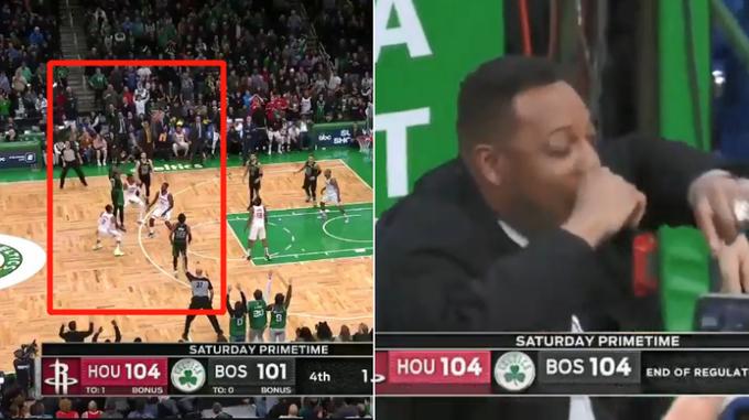 【影片】真理Pierce都看呆了!Tatum刻意罰球不中,Brown命中壓哨三分拖入延長!