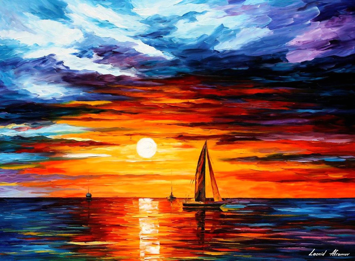 EVENING TOUCH OF HORIZON — PALETTE KNIFE Oil Painting On Canvas By Leonid Afremov https://afremov.com/evening-touch-of-horizon.html…  Abstract art for evryone :) pic.twitter.com/Ep0tzUc8lq