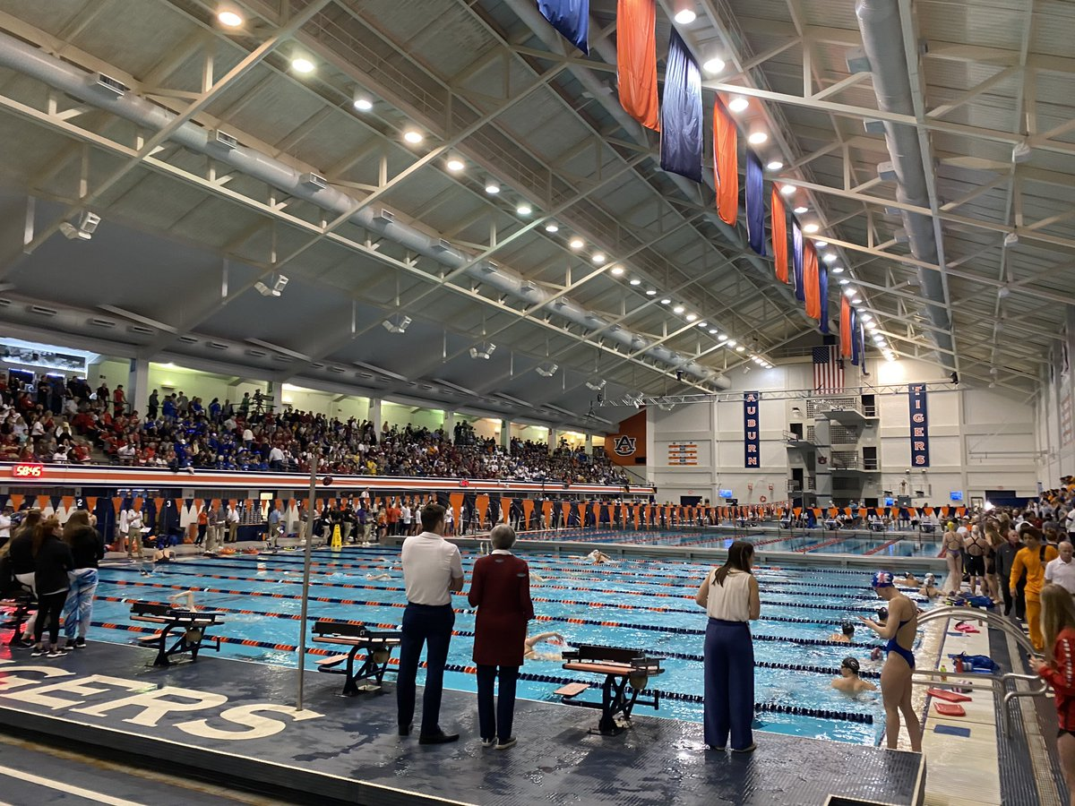 #SECSD20 Championships Finals are tonight hosted by @AuburnSwimDive! Future Olympians in the pool! #ItJustMeansMore