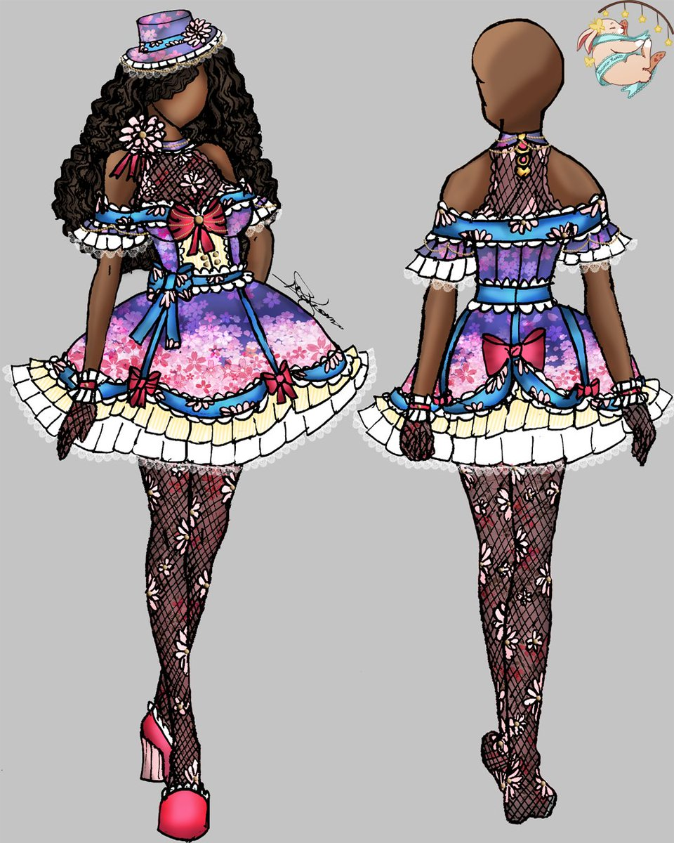 Arôme d'une fleur (Aroma of a flower) Cherryblossom series.  #illustration #fashionillustration #fashion #fashiondesign #drawing #fashionsketch #fashionillustrator #fashionart #fashiondrawing #sketch #illustrator #design  #style #digitalart #digitaldrawing #cherryblossom #sakurapic.twitter.com/cWuJuwgzvZ