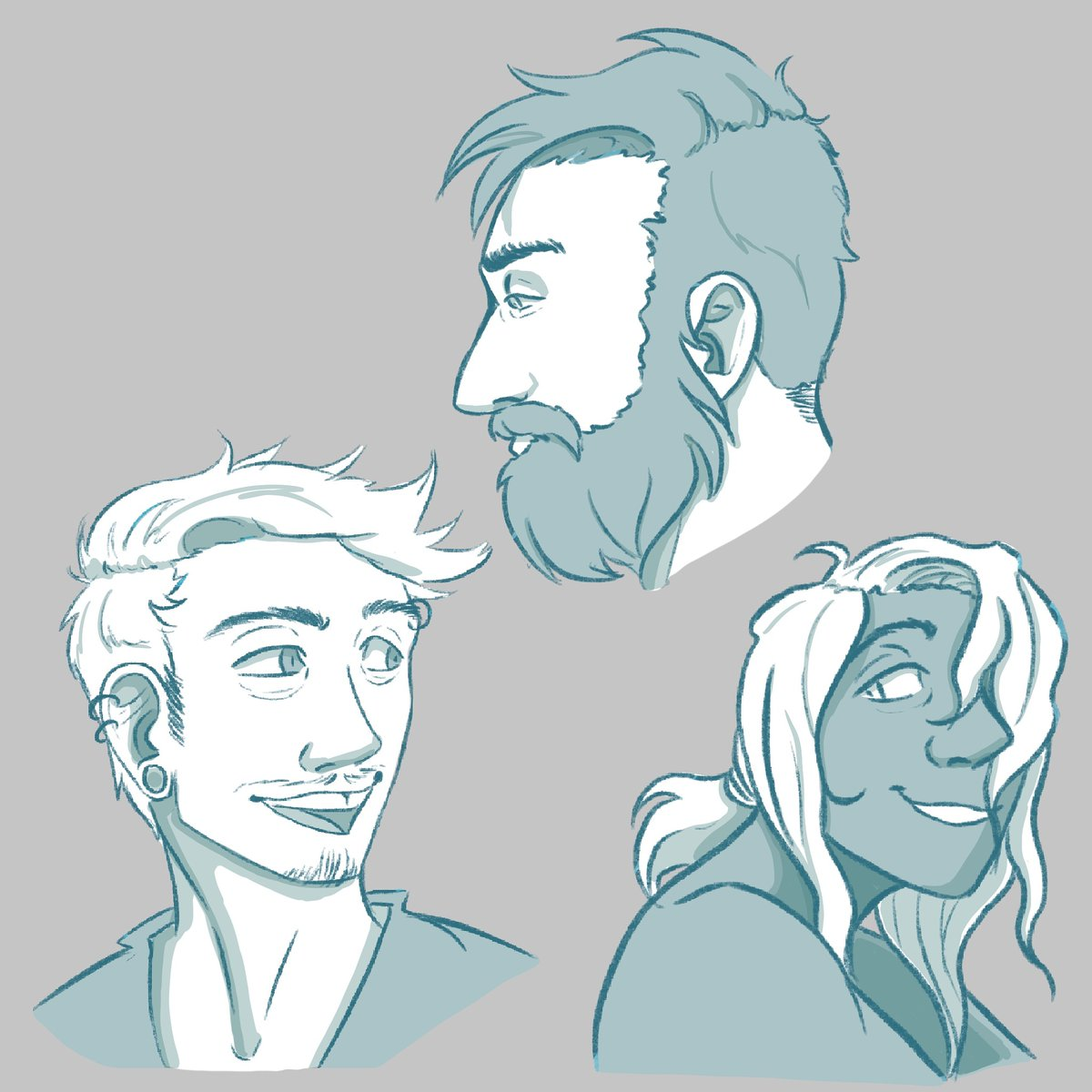 Just random peeps post, haven't doodles just some faces in a while.  #art #concept #conceptdesign #digitalart #drawing #digitaldrawing #doodle #artstudy #illustration #digital #peeps #people #sketchpic.twitter.com/1UuIgO8pus