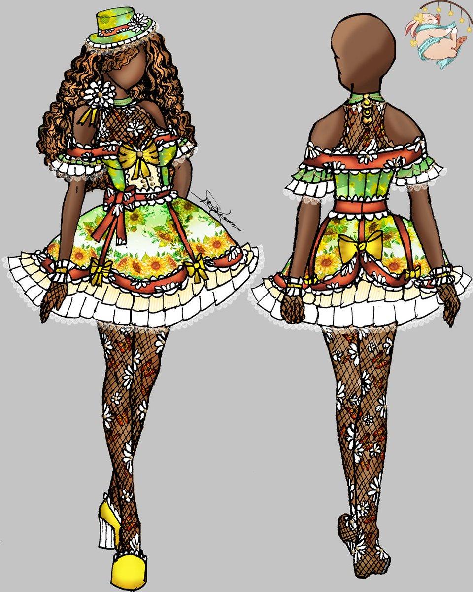 Arôme d'une fleur (Aroma of a flower) Sunflower series.  #illustration #fashionillustration #fashion #fashiondesign #drawing #fashionsketch #fashionillustrator #fashionart #fashiondrawing #sketch #illustrator #design  #style #digitalart #digitaldrawing #sunflower #himawaripic.twitter.com/MsoWC9bdJz