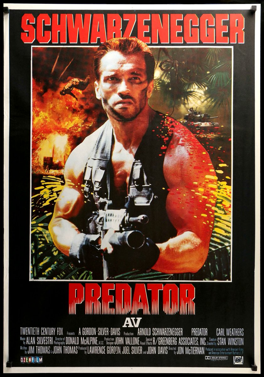 Predator - Film 17 of 2020 A really enjoyable action horror film with a bunch of standout characters. Happy I finally got to see it, was a good Man vs. Nature scenario given life. Really enjoyed Arnold, Carl Weathers, and Bill Duke in this the most, lot of iconic lines from them pic.twitter.com/flNe0U7n3m