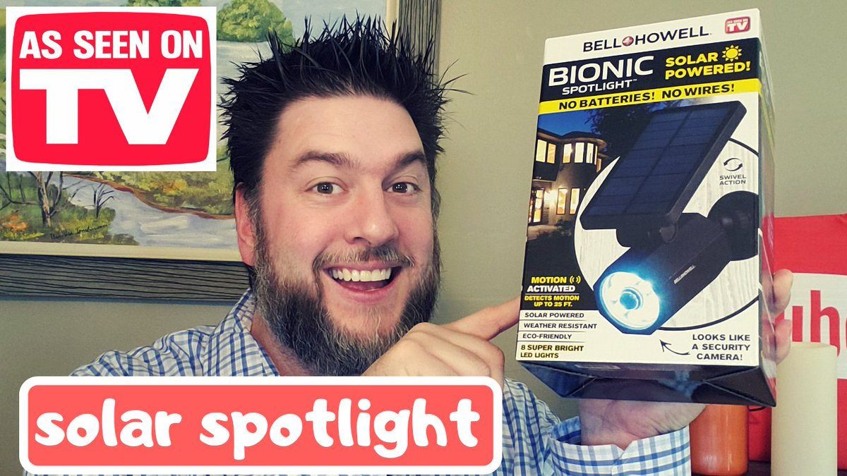 Bell and Howell Bionic Spotlight.  A solar powered spotlight that looks like a security camera. Check it out here.  #asseenontv #buyordeny #bellandhowell #bionicspotlight  https://youtu.be/GTDA2jjwEPE pic.twitter.com/gLR9bAdT2Q