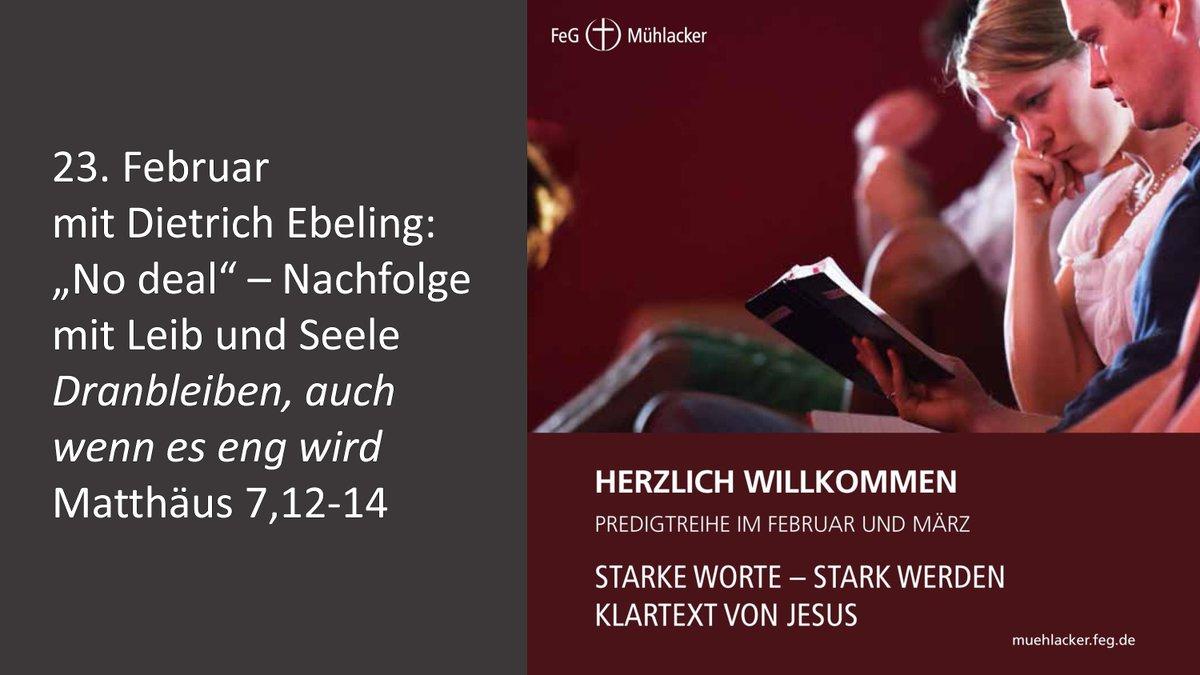 Herzliche Einladung für Sonntag, 23. Februar 2020. Eine weitere Folge unserer aktuellen Predigtreihe... pic.twitter.com/KXXpCOtINy