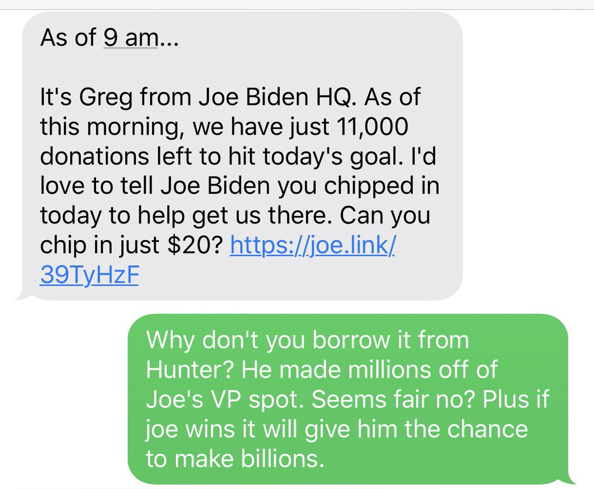If they're texting these people their data is as bad as their candidate!