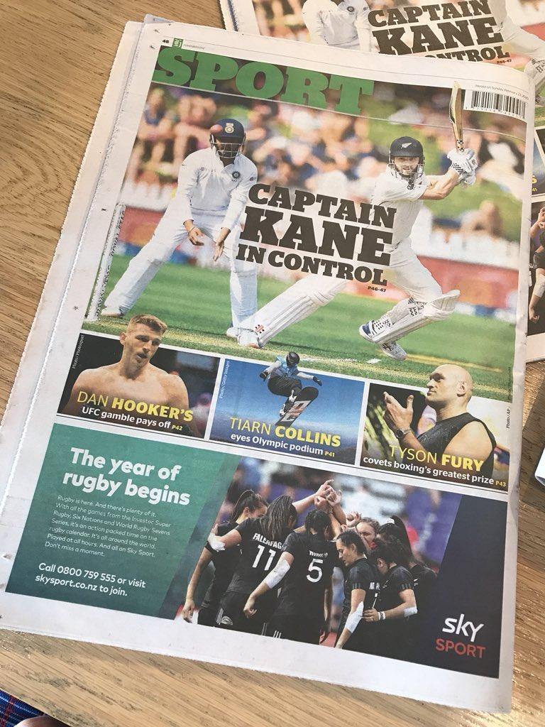 Dan Hooker gets hometown love in this morning's NZ Herald, via @ChrisReive