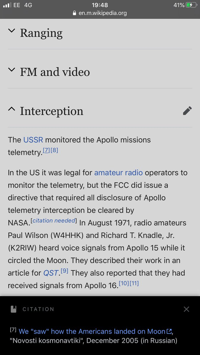 The Russians, the USA's Cold War space race rival, monitored the Apollo mission telemetry and voice comms broadcast DIRECTLY from the Moon. Yet they said nothing about it being fake, despite the perfect motivation. Why? They knew it was real! The Russian public must be stupid! <br>http://pic.twitter.com/aA6cgVMEsg