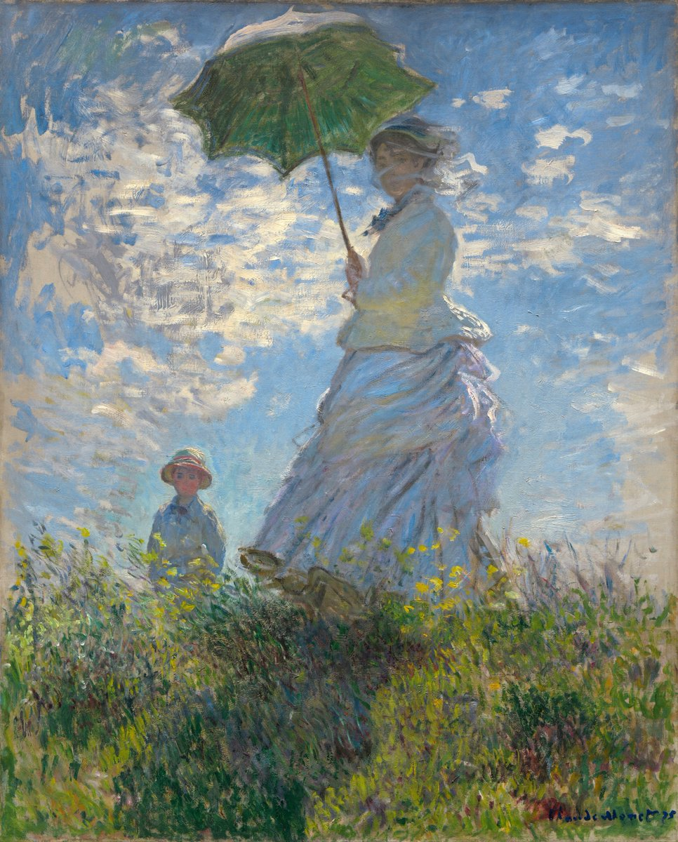 Woman with a Parasol (Madame Monet and Her Son) by Claude Monet, 1875. pic.twitter.com/iNtpcSgxtH