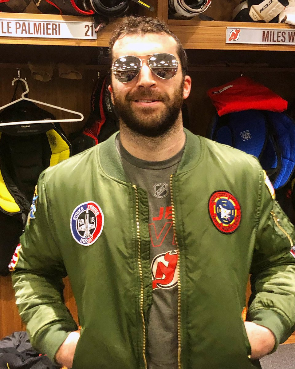 Outfit for your Military Ball tonight, @kylepalmieri? ⁣ ⁣⁣⁣⁣⁣⁣⁣ #WeAreTheOnes | #NJDevils