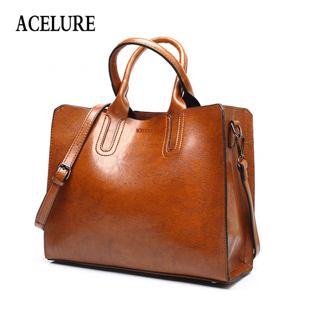 #cool #cute ACELURE Leather Handbags Big Women Bag High Quality Casual Female Bags Trunk Tote Spanish Brand Shoulder Bag Ladies Large Bolsos