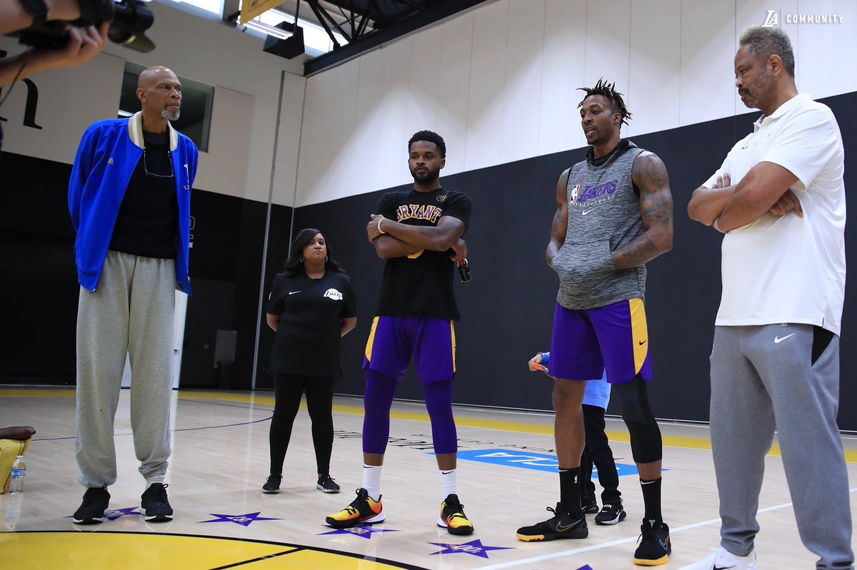 Our third session with Building Bridges with Basketball today featured special guests Kareem Abdul-Jabbar, Troy Daniels and Dwight Howard.