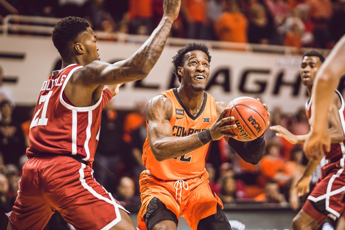 .@cameron_mcgriff knocks down the trey   OSU 40 | OU 34 :46 1H   #LetsWork | #GoPokes <br>http://pic.twitter.com/vwb6sodBKy