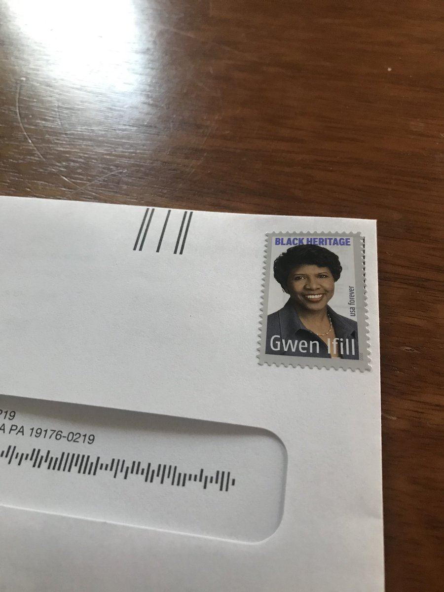 I used my first Gwen Ifill stamp today. Order your own set today!