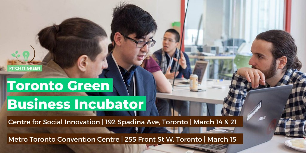 If you're a high school student with a green business idea,  come to our Toronto Green Business Incubator. Applications close MARCH 1ST! http://bit.ly/Toronto-Green-Business-Incubator-Application ….  #pitchitgreen #greenbusiness #torontoevents #youth #gogreen #leadership #ecopreneur #entrepreneurship #innovationpic.twitter.com/vCtrLpQ2qQ