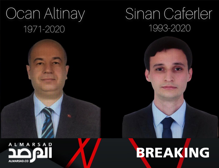 BREAKING | Turkish media accounts confirm the identity of two Turkish officers killed in #Tripoli. They are #Sinan #Caferler (b.1993) and Colonel #Ocan #Altinay (b.1971, Izmir). #Libya #Turkey