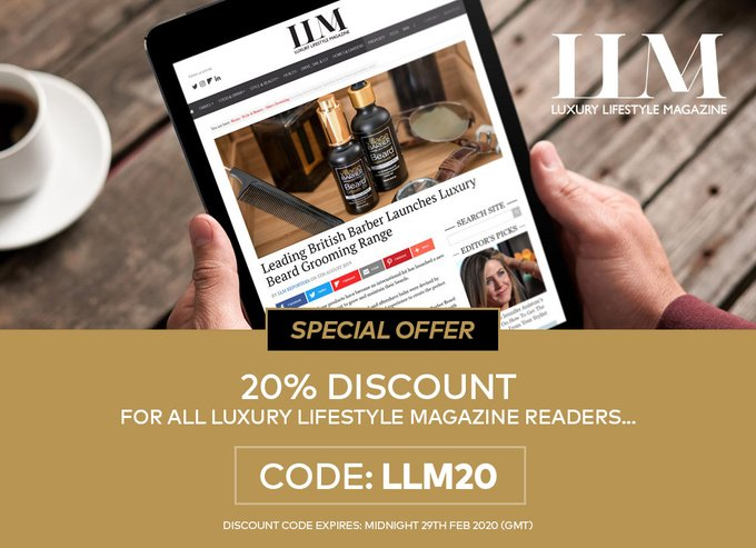 The new range of Village Barber beard oils have been featured in Luxury Living Magazine. Get 20% off now using discount code: 'LLM20'  #villagebarber #beardstyles #beard #beardgang #beardlife #beard #beards #beardoil #beardcare #beardedmen @TheVillageBarberUKpic.twitter.com/QV6Isn40QP