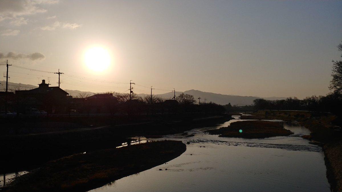 鴨川のモーニング。  #京都 #朝焼け #イマソラ #kyoto #japan #morningglow