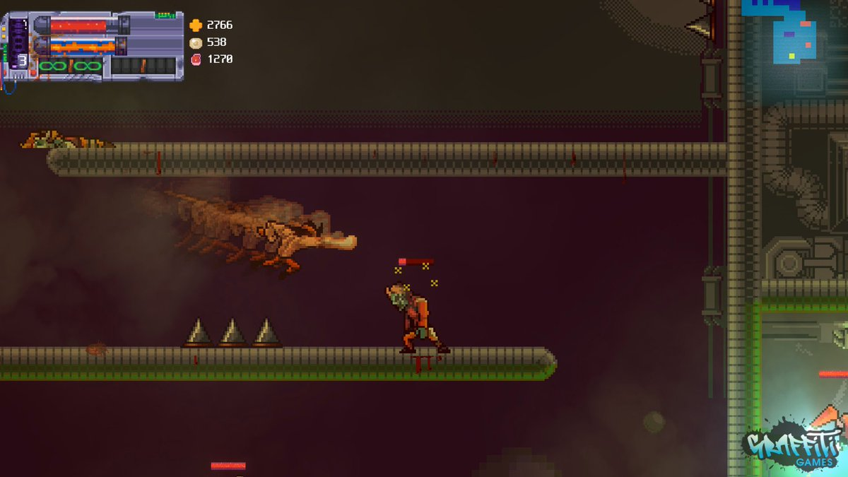 We've been working with Mega Cat Studios on the pixelart Metroidvania Bite the Bullet for a while now, and it's shaping up quite nicely. It has over 60 levels, 40 edible enemies, and a very unique weapon crafting system. We'd love to hear your thoughts!  #screenshotsaturdaypic.twitter.com/7uVC3fBLe7