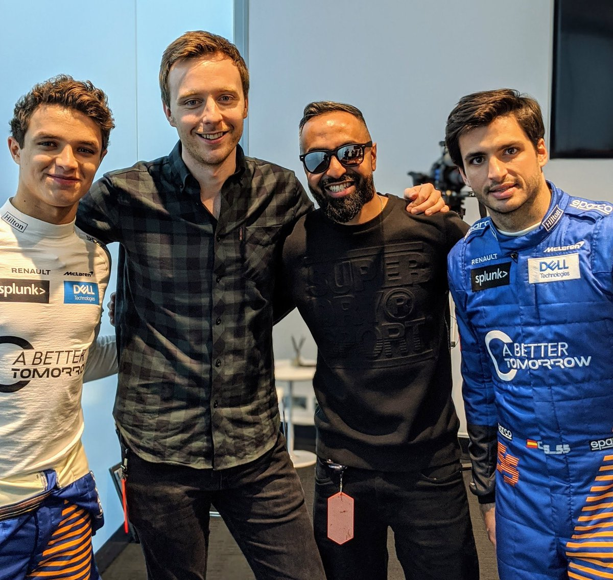 📸 | Lando and Carlos at the #MCL35 launch!  #L4NDO #LN4 #F1