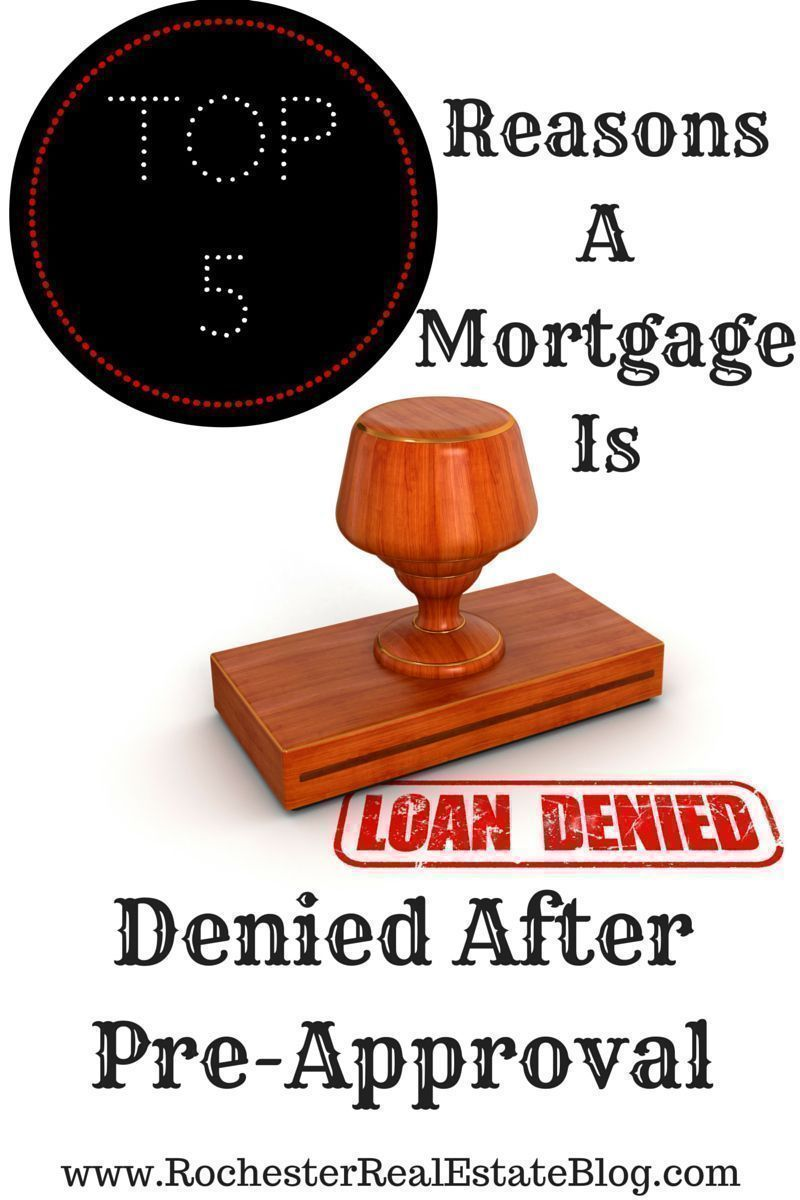Top 5 Reasons A #Mortgage Is Denied After Pre-Approval https://buff.ly/2Fh5RKV via @KyleHiscockRE #realestate pic.twitter.com/TxWhbJu0Yy