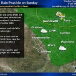 Image for the Tweet beginning: Rain chances return on Sunday,