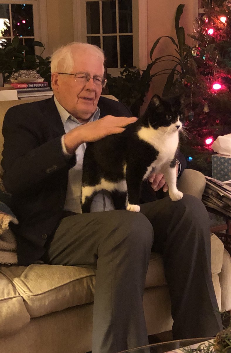 Throwback #Caturday: @RepDavidEPrice with Puffin during Christmastime in NC, 2019. pic.twitter.com/K5oMOYuo0J
