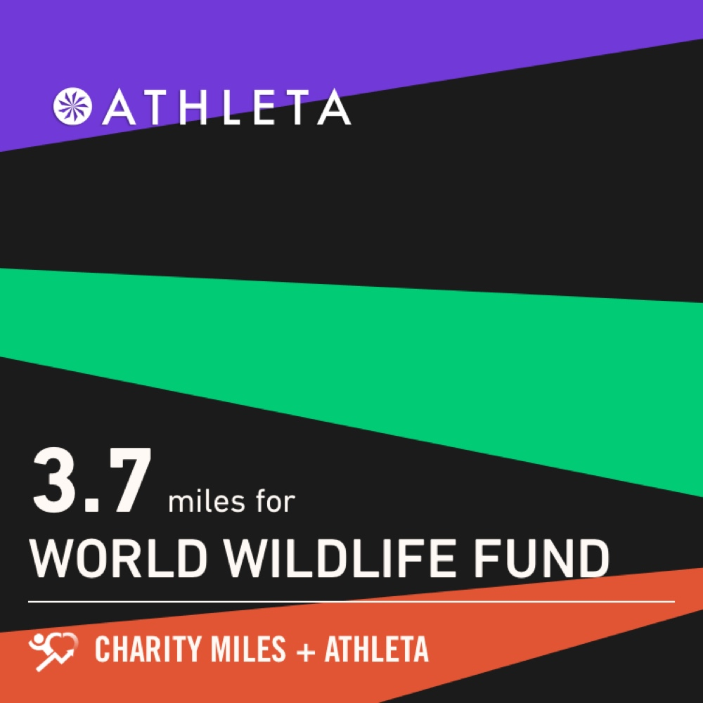 I #ran 3.7 @CharityMiles for @WWF. Thx @Athleta for sponsoring me! #PowerOfShe