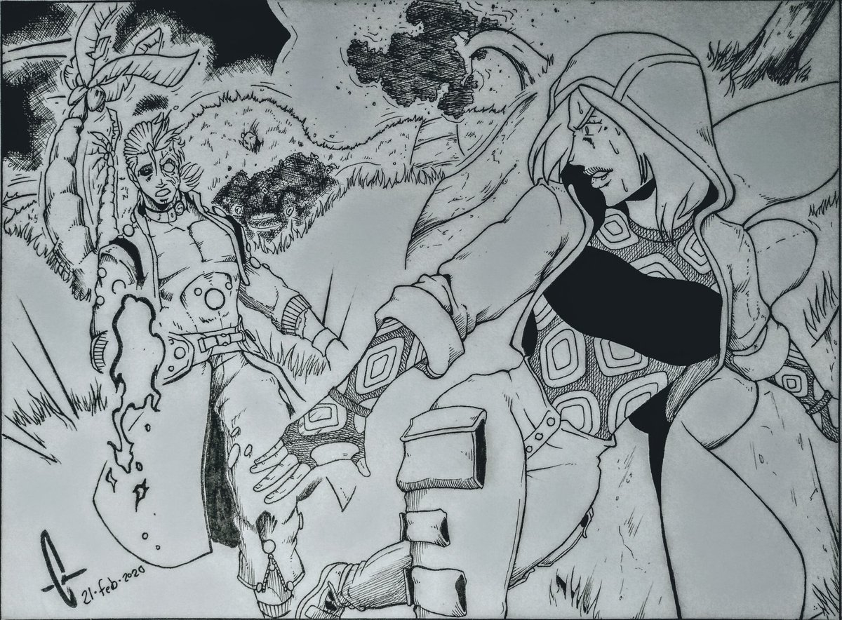 Wibbly Wobbly Ground #art #myoriginalcharacters #magic #manga #mangadrawing #comicbookartpic.twitter.com/QdrCsBYnKJ