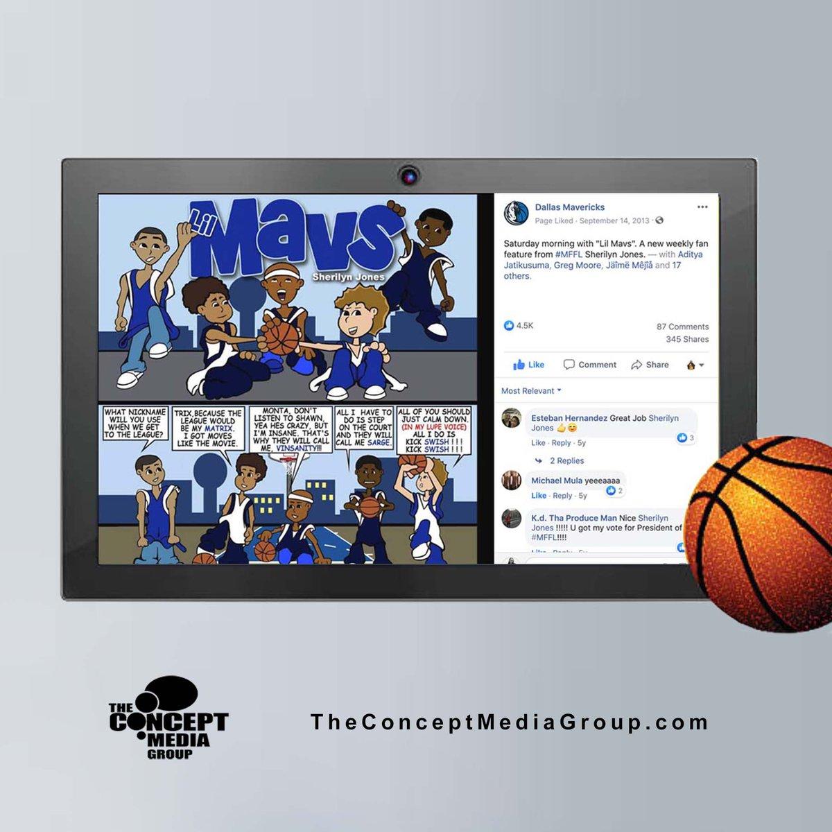 Created a comic called Lil Mavs for Dallas Mavs social pages some years ago. Time fly's!!!!. #mffl 🏀  Illustrator  ✏: @jonesherilyn  #TheConceptMG #comicstrip #comics #cartoon #webcomic #illustration #webcomics #comicstrips #nba #ballislife #basketball #dirk #dallasmavericks