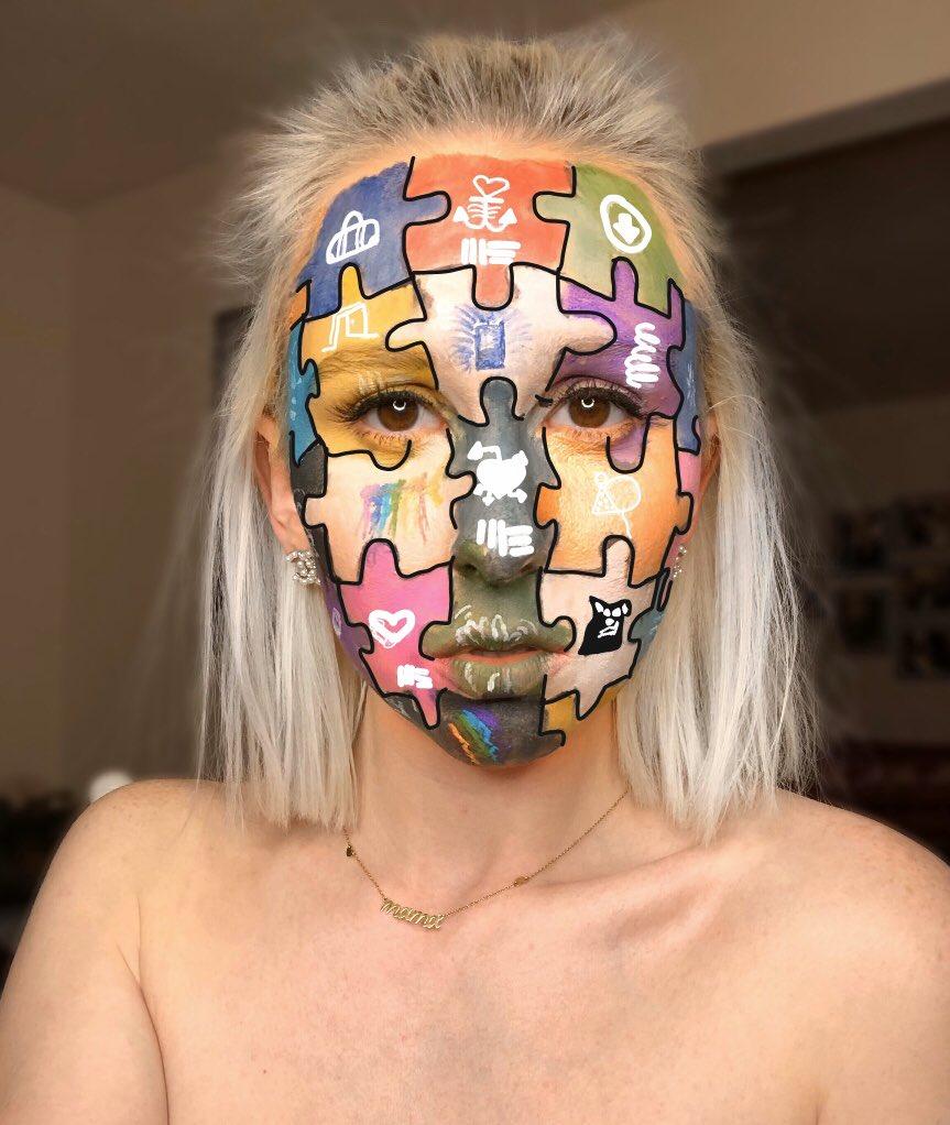 @russdiemon album/covers   Tag Russ and I'll appreciate you forever❤️   #russ #russmakeup #makeup #albummakeup