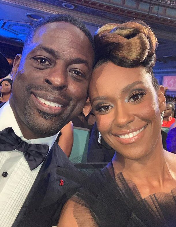 The award for the most gorgeous couple @naacpimageaward goes to @SterlingKBrown and his beautiful wife @michellechel! #ThisIsUs  📸 @michellechel