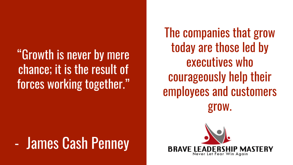 The companies that grow today are those led by executives who courageously help their employees and customers grow. http://www.TonyBodoh.com #customerservice   #customerexperience pic.twitter.com/YssnNv02H4
