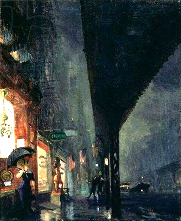 This is how John Sloan saw the Bowery one wet night in 1911