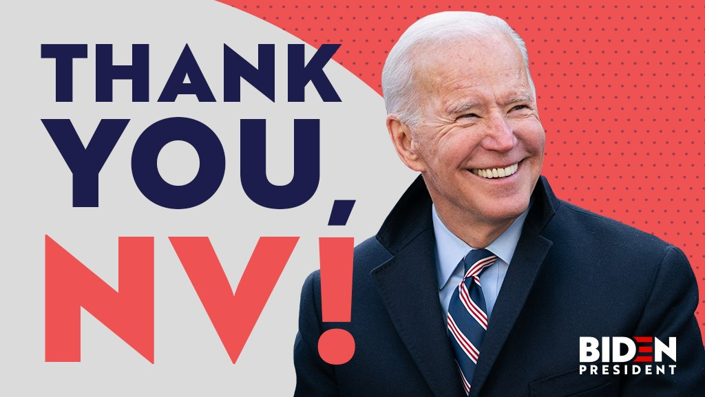 Nevada, y'all did it for me! Thank you to all of our incredible supporters, volunteers, and organizers around the state. We couldn't have done this without you.  Next stop: South Carolina!