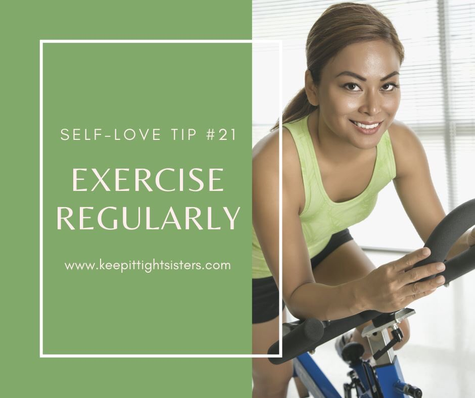 Day 21 of Self-Love. Become best friends with exercise and do it consistently for most days of the week. #KeepItTightSisters #KITS #SelfLoveMonth #Exercisepic.twitter.com/y4668J9rk7