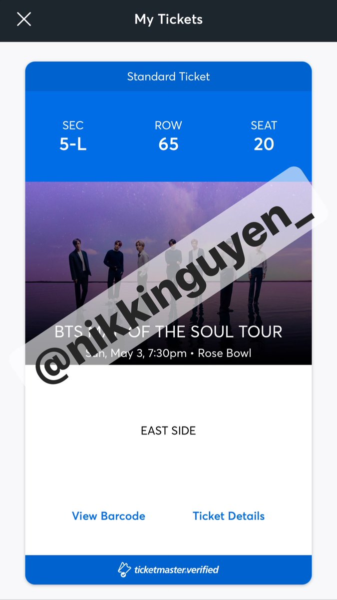 Armys  I have an extra ticket for BTS at Rose Bowl in LA on DAY 2 5/3! Selling for $140. Please DM if interested! #MapOfTheSoulTourpic.twitter.com/sqXzk5KkIW