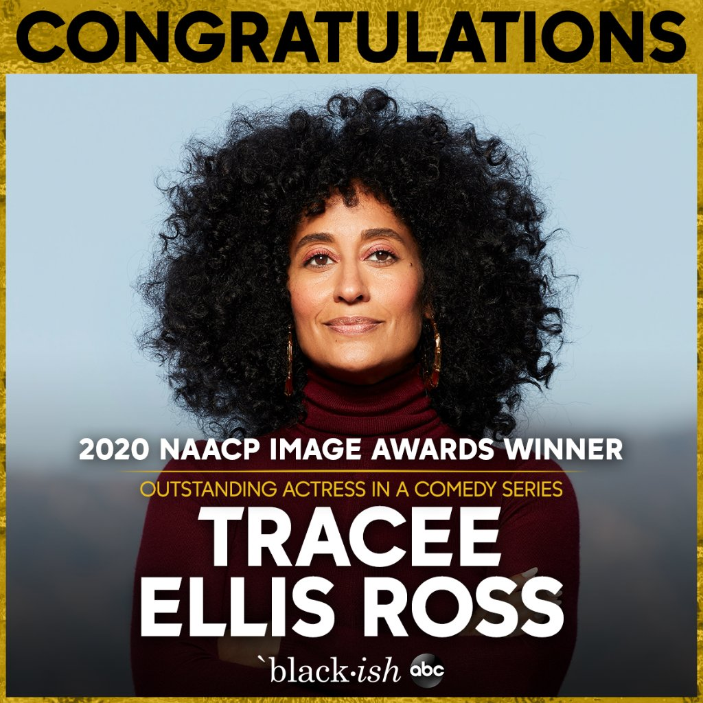 Replying to @blackishabc: Congrats to @TraceeEllisRoss for her #NAACPImageAwards win!
