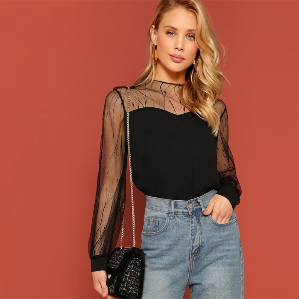 #interiordesign #home Women's Sheer Design Black Blouse https://adlifeshop.com/womens-sheer-design-black-blouse/ …pic.twitter.com/BgutWmphjL