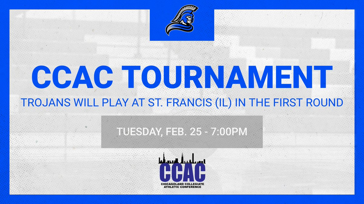 Mark your calendars! We will play in our first postseason game since 2013 this Tuesday at @USFSaints. Tip-off is scheduled for 7:00PM in Joliet.  #Sisterhood #TrojanNation #CCACTournamentpic.twitter.com/rR7KwiBHuY