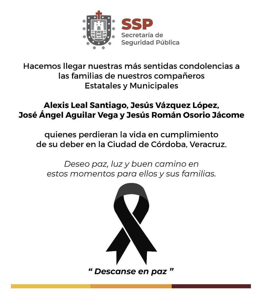 ✅#CórdobaOrizaba @SP_Veracruz da a conocer nombres de policías fallecidos en Córdoba ➡️https://bit.ly/2wwysMz#OlivaNoticias #Multimedios