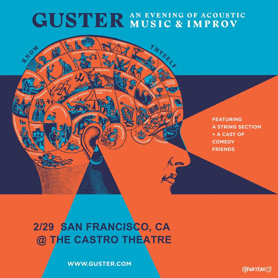 Exactly one week & counting! @guster is bringing an evening of acoustic music and improv to the @Castro_Theatre next Sat. 2/29. Tickets are going fast, be sure to get yours soon: http://folkYEAH.compic.twitter.com/tS6qIzX3KR