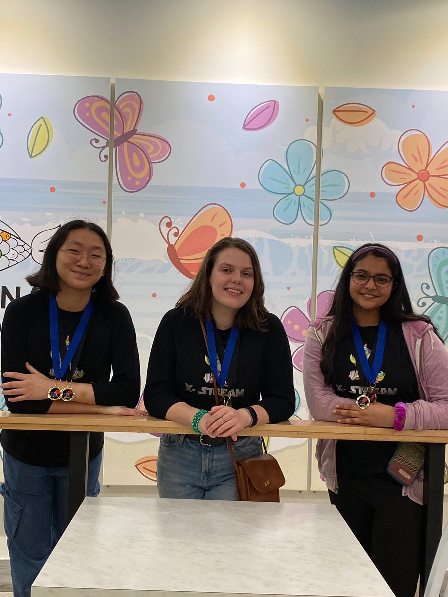 RHS continues to shine!  Roopa Bindingnavele, Laura Li and Malia Schomaker won first place at the South Coastal Bend Destination Imagination Tournament in the Improv Category. They also won a special award- the Renaissance Award for Superb Creativity!  TEXAN PRIDE! pic.twitter.com/aHnG33v81Q