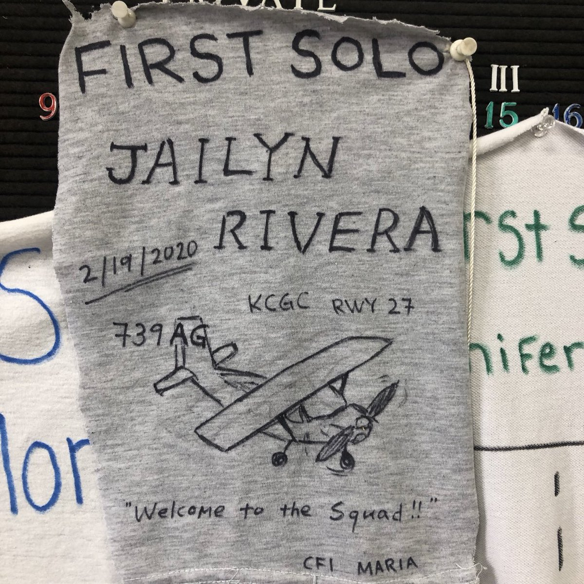 Our USAFA candidate, Jailyn Rivera slipped the bonds of earth by herself last week with her first solo flight!  The future is bright for this young lady!  @CHSCanes #onehurricane #AFJROTC<br>http://pic.twitter.com/cKYFnKZvF3