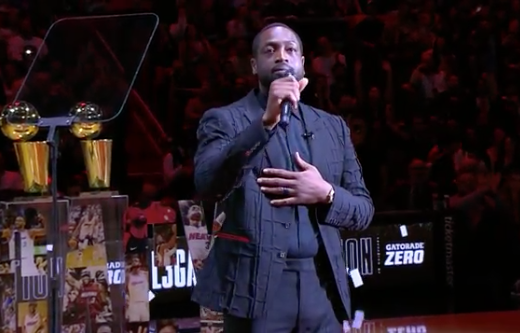 D-Wade closes his speech with some words on the late Kobe Bryant 🙏