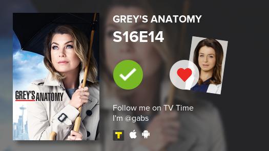 I've just watched episode S16E14 of Grey's Anatomy #GreysAnatomy  #tvtime